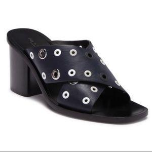 Rag & Bone Paige Mule Heel Sandals Salute Grommet